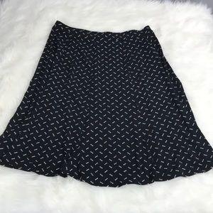 Liz Claiborne Womens Small Black Wh Stretch Skirt